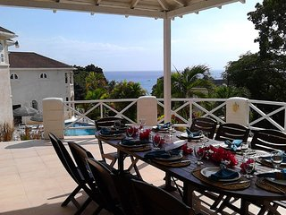 2 bedroom vacation Barbados beach villa -pool,A/c,staff,ensuite,airport transfer