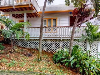 Ocean-view villa with shared pool access, great outdoor space, near beach