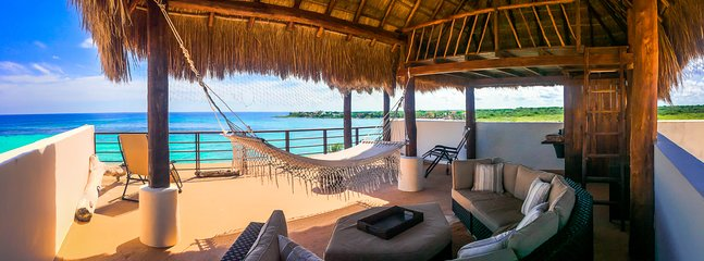Endless views of Caribbean from our private rooftop deck