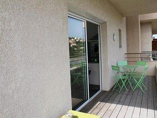 PORTICCIO - Très bel appartement face à la plage d'Agosta F2-267