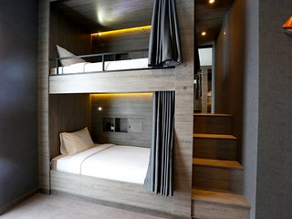 Bed in 8- Beds Mixed Dormitory Room En suite Bathroom and Balcony