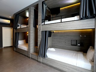 8 Bunk Bed Mixed Dormitory Room En suite Bathroom and Balcony