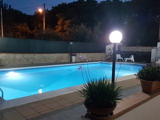 Villa A.R with pool and garden, beautiful views of Mount Etna and the Ionian sea