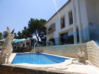 Pool and Front of Villa