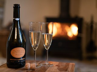 Enjoy a glass or two in front of the roaring fire