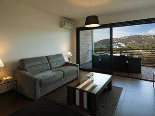 Studio de standing pour 2 belle terrasse vue panoramique mer golf de PV piscine