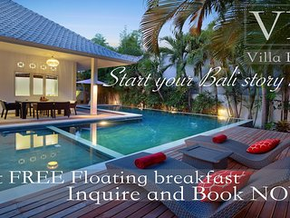 BOOK NOW PAY LATER!!! FREE FLOATING BREAKFAST*4BR/4BTH*SEMINYAK