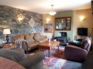 Sitting Area - The Loft at The Priory Killarney Courtyard Cottages