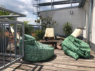 Loftlike rooftop overviewing Vienna