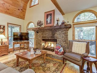 NEW LISTING! Two creekside cabins w/ decks, fireplaces, firepit & game room!