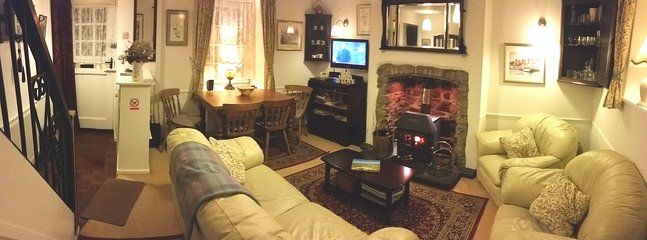 Multi-fuel Stove in Sitting Dining Room
