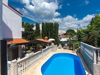 Ground floor apartment Željka 299 in Malinska with BBQ and swimming pool
