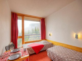 Studio 2 personnes avec balcon vue Mont Blanc, residence Grand Arbois