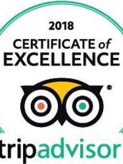 Premiato Certificato di eccellenza 2018 da TripAdvisor!
