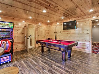 Sevierville Family Home w/ Private Pool & Theater!