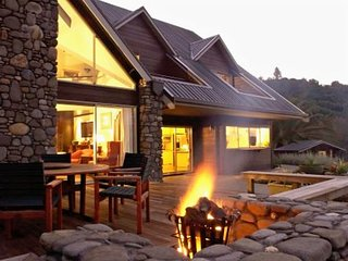 Enjoy the log burning brazier on a cool evening