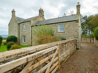 Follions Farmhouse. Rural Northumberland retreat with period features