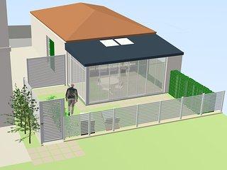 Lumineuse et agreable maison F2 avec jardin , proche centre ville et thermes