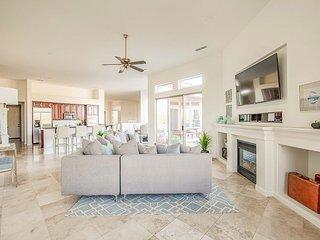 Desert Entertainment Paradise! Luxe 5BR Villa w/Outdoor Kitchen & Lagoon Pool
