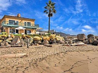 Stunning Oceanfront 4BR w/ Private Patio & Decks - 15 Mins to Santa Barbara