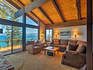 Waterfront Tahoe City Home w/Decks+Stunning Views!