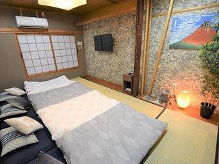Osaka Hanazonocho U-home! Japanese TATAMI house,Near Nanba Area! Max 7ppl