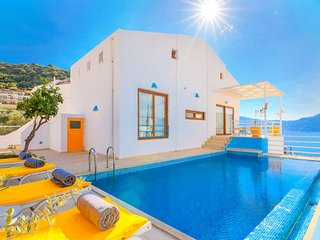Villa Elmas: Private pool, Jacuzzi, Sea views, WiFi, A/C
