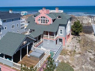 Oceanfront! Elevator, priv pool, hot tub, tennis, game room, pet friendly, BI-38