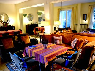 Large 3 BR Parisian Apt w/ Private Garden Along the Seine