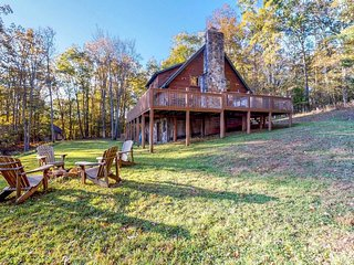NEW LISTING! Dog-friendly family cabin with private hot tub & dock access