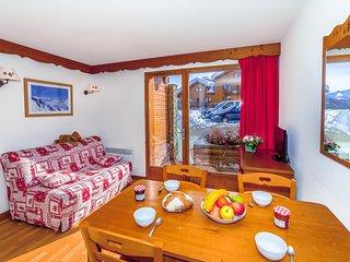 Appartement cosy et equipe 6p, a 100m des pistes, navette gratuite