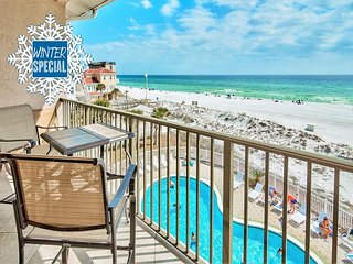 *2018 DISC* BEACH FRONT Updated, GulfView HeatedPool+FREE Beach Service&Perks