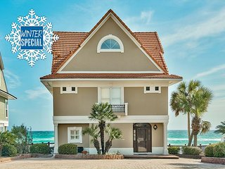 **2018 DISC** BEACH FRONT Beautiful Home + FREE Golf Cart & FREE VIP Perks!!!