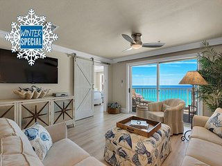 Beautiful BEACH FRONT! RENOVATED! Pool/Hotub +FREE Beach Service & VIP Perks!
