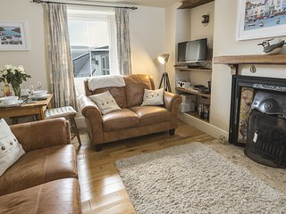 PIXIE COTTAGE, period property, cosy interior, terrace, river view