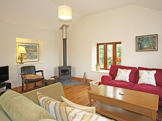 THE STABLES, CAPTON, dog-friendly, barn conversion, woodburning stove, garden