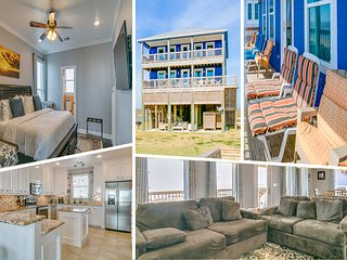 Beachfront Home: 5 Bedrooms - 2 Master Suites - 3 King Beds - Stavanger Beach
