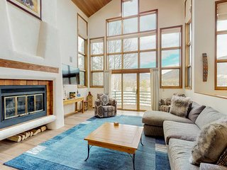 NEW LISTING! Stunning luxury home w/indoor hot tub & wet sauna -golf course view