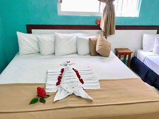 R215 Private room with king/twin beds with AC, and WiFi Downtown Cozumel
