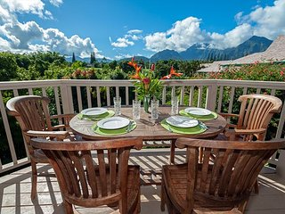 Hanalei Bay Villas 26-ocean view, walk to beach,updated inside,lots of xtras!