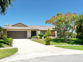 Waterfront house on key lot w/ large heated pool and view of Marco River