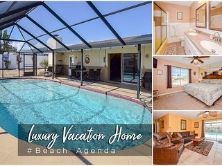 Feb Specials! 'Beach Agenda' - Luxury Heated Pool Home - 3BR/2BA