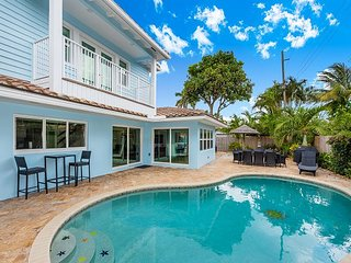 Luxurious 4BR/4BA w/ Private Deck & Heated Pool - 7-Minute Walk to Beach