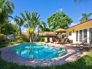 WALK TO THE BEACH. Private backyard w/ heated pool