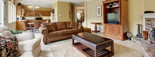 Family Room Is One of Five Gathering Spaces For Guests, Includes LED TV, DVD Player, DVDs and Cable