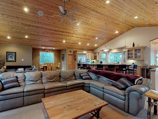 NEW LISTING! Tranquil retreat with game room, theater room, and private hot tub!