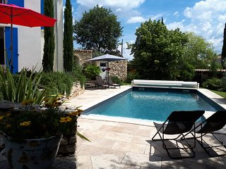 'les Romarins', Independent garden flat in house with private pool