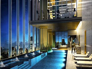 Nana BTS 5 min/Luxury 1BR/Sky Pool/Gym