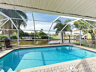 3BR Cape Coral Home, Private Heated Pool and Canal Access