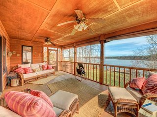 NEW LISTING! Lakefront home with dock, horseshoe pit, BBQ, and firepit!